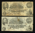 Obsoletes By State:Louisiana, Shreveport, LA- State of Louisiana $100 Mar. 10, 1863 Two Examples. ... (Total: 2 notes)