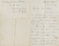 "Autographs:U.S. Presidents, Julia G. Tyler Autograph Letter Signed. Two pages, two sided, 5"" x8"", n.p., August 15, 1888. John Tyler's second wife, Juli..."