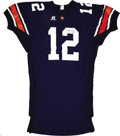 Football Collectibles:Balls, Brandon Cox Game Worn Signed Jersey. The lefty signal caller Brandon Cox for the Auburn Tigers led the team to an impressiv...