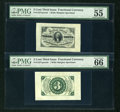 Fractional Currency:Third Issue, Fr. 1227SP 3¢ Third Issue Face Wide Margin PMG About Uncirculated 55 EPQ. Fr. 1227SP 3¢ Third Issue Back Wide Margin PMG Gem U... (Total: 2 notes)