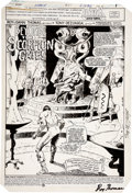 Original Comic Art:Splash Pages, Tony DeZuniga Arak, Son of Thunder #42 Splash page 1Original Art (DC, 1984)....