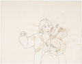 animation art:Production Drawing, The Lord of the Rings Frodo and Legalos Animation ProductionDrawing Original Art (UA, 1978)....