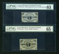Fractional Currency:Third Issue, Two Narrow Margin Third Issue 3¢ Notes.. ... (Total: 2 notes)