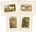Antiques:Posters & Prints, Lot of Sixteen Vintage Illustrations of Various Large Mammals. 9.5 x 12.5 inches.... (Total: 16 Items)