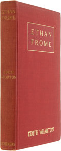 Books:Fiction, Edith Wharton. Ethan Frome. New York: Charles Scribner'sSons, 1911. First edition. Publisher's red cloth. Mild ...