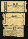 Obsoletes By State:Louisiana, Franklin, LA- Treasurer of the Parish of St. Mary 25¢ (2); 50¢ 1862. ... (Total: 3 notes)