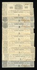 Obsoletes By State:Louisiana, Shreveport, LA- State of Louisiana 50¢ Mar. 1, 1864 Nine Examples. ... (Total: 9 notes)