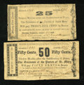 Obsoletes By State:Louisiana, Franklin, LA- Treasurer of the Parish of St. Mary 25¢; 50¢ Aug. 15, 1862. ... (Total: 2 notes)