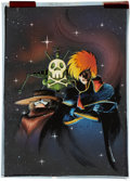 Original Comic Art:Covers, Tom O'Connor Captain Harlock: The Fall of the Empire #1Cover Hand-Colored Blueline Original Art (Eternity, 1992)....