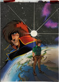 Original Comic Art:Covers, Tom O'Connor Captain Harlock: The Fall of the Empire #4Cover Hand-Colored Blueline Original Art (Eternity, 1992)....