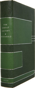 Books:First Editions, [Jack Fitterer, bookbinder]. F. Scott Fitzgerald. The GreatGatsby. New York: Charles Scribner's Sons, 1925....