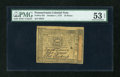 Colonial Notes:Pennsylvania, Pennsylvania October 1, 1773 18d PMG About Uncirculated 53 EPQ....