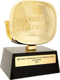 Movie/TV Memorabilia:Awards, 60 Minutes American Television Award....