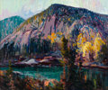 Fine Art - Painting, American:Modern  (1900 1949)  , CHARLES CURTIS ALLEN (American, 1886-1950). White Horse Ledge,Echo Lake, circa 1929. Oil on canvas. 30-1/2 x 36 inches ...