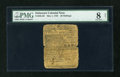 Colonial Notes:Delaware, Delaware May 1, 1758 20s PMG Very Good 8 Net....
