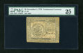 Colonial Notes:Continental Congress Issues, Continental Currency November 2, 1776 $5 PMG Very Fine 25....