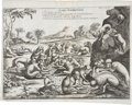 Antiques:Posters & Prints, Copperplate Engraving of Unusual Ethiopian Monkeys. 17 x 13.5inches....