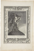 "Antiques:Posters & Prints, Bernard Picart Engraving ""Atlas Supports the Heavens on HisShoulders"". Plate imprint 10 x 14 inches, overall 12 x 18 inches..."