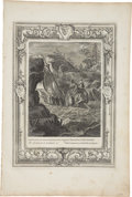 """Antiques:Posters & Prints, Bernard Picart Engraving """"The Argonauts Pass the Symplegades"""". Plate imprint 10 x 14 inches, overall 12 x 18 inches. The pap..."""