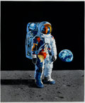 Fine Art - Painting, American:Contemporary   (1950 to present)  , PAUL CALLE (American, b. 1928). The Astronaut. Oil on board.29-3/4 x 24-3/4 inches (75.6 x 62.9 cm). Signed lower left:...