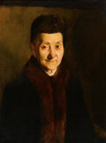 Fine Art - Painting, American:Antique  (Pre 1900), FRANK DUVENECK (American, 1848-1919). Portrait of an OldLady, circa 1890. Oil on canvas. 24 x 18-1/4 inches (61.0 x46....