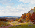 Fine Art - Painting, American:Modern  (1900 1949)  , JAMES EMERY GREER (American, unknown-1948). Two Roads. Oilon artist's board. 16 x 19-1/2 inches (40.6 x 49.5 cm). Signe...