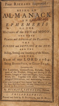 Books:First Editions, [Benjamin Franklin]. Richard Saunders [pseudonym]. Poor Richardimproved: Being an Almanack and Ephemeris of the Motions...