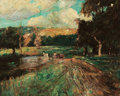 Fine Art - Painting, American:Modern  (1900 1949)  , ERNEST LAWSON (American, 1873-1939). Connecticut Landscape.Oil on canvas laid on masonite. 24-1/4 x 30-1/4 inches (...