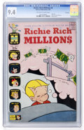 Silver Age (1956-1969):Humor, Richie Rich Millions #4 File Copy (Harvey, 1963) CGC NM 9.4 Off-white to white pages....