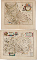 Miscellaneous:Maps, William and Joan Blaeu. Group of Five Copper Engraved Colored Maps,including:... (Total: 5 Items)