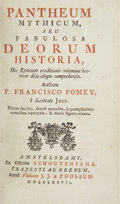 Books:Fiction, P. Francisco Pomey. Pantheum Mythicum, seu FabulosaDeorum Historia. Amsterdam: Ex Officina Schouteniana...