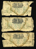 Obsoletes By State:Louisiana, Baton Rouge, LA- City of Baton Rouge $1; $2; $3 Jan. 2, 1862. ... (Total: 3 notes)