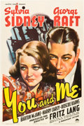 "Movie Posters:Drama, You and Me (Paramount, 1938). One Sheet (27"" X 41"").. ..."