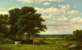 Fine Art - Painting, American:Antique  (Pre 1900), PROPERTY OF A PRIVATE TEXAS COLLECTOR. JOHN WILLIAM CASILEAR(American, 1811-1893). A Summer Day, 1885. Oil on canvas...