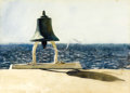 Fine Art - Painting, American:Contemporary   (1950 to present)  , JAMIE (JAMES BROWNING) WYETH (American, b. 1946). Ship'sBell, 1976. Watercolor on paper. 21 x 30 inches (53.3 x 76.2cm...