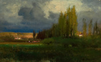 PROPERTY OF A PRIVATE TEXAS COLLECTOR  GEORGE INNESS (American, 1825-1894) Landscape Study, circa