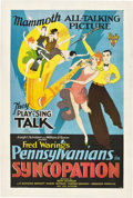 "Movie Posters:Musical, Syncopation (RKO, 1929). One Sheet (27"" X 41"").. ..."