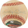 Autographs:Baseballs, Mickey Mantle Single Signed Portrait Baseball....