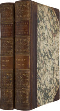 Books:First Editions, Geo[rge] Catlin. Letters and Notes on the Manners, Customs, andCondition of the North American Indians. Written during ... (Total:2 Items)