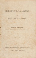 Books:Non-fiction, Robert Marnock. The Floricultural Magazine, and Miscellany ofGardening. London: Simpkin, Marshall & Co., 1836-1...(Total: 6 Items)
