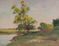 Fine Art - Painting, American:Modern  (1900 1949)  , WALTER A. CLARK (American, 1848-1917). Landscape with River.Oil on canvas. 20-1/4 x 26-3/4 inches (51.4 x 67.9 cm). ...