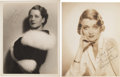 Movie/TV Memorabilia:Autographs and Signed Items, Norma Shearer and Constance Bennett Signed Photos.... (Total: 2Items)