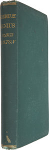 Books:First Editions, Francis Galton. Hereditary Genius. An Inquiry Into Its Laws andConsequences. New York: D. Appleton & Co., 1870....