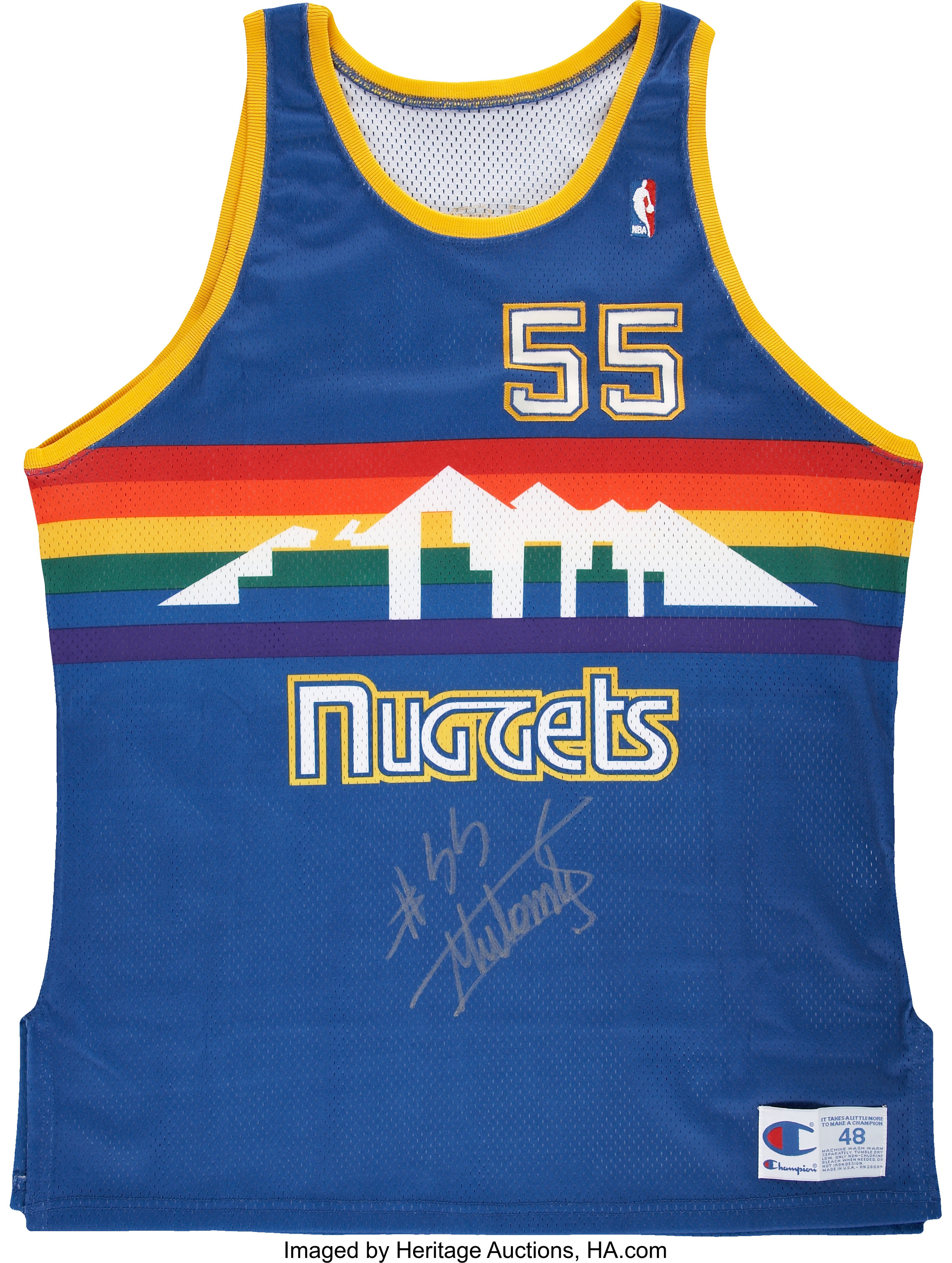 the best attitude a9e64 ab196 Dikembe Mutombo Signed Jersey. ... Basketball Collectibles ...