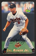 Autographs:Sports Cards, 1995 Classic Cal Ripken Jr. Signed Phone Card. ...