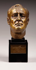Fine Art - Sculpture, American:Modern (1900 - 1949), JO DAVIDSON (American, 1883-1952). Franklin D. Roosevelt,1934. Bronze. 10-1/2 x 6 inches (26.7 x 15.2 cm) with base. Ed...
