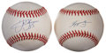 Autographs:Baseballs, Chipper Jones and Frank Thomas Single Signed Baseballs. ... (Total:2 items)