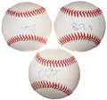 Autographs:Baseballs, Baseball Stars Single Signed Baseballs Group of 3. ... (Total: 3items)