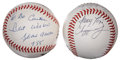Autographs:Baseballs, Atlanta Braves Stars Signed Baseballs Group of 2. ... (Total: 2items)