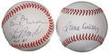 Autographs:Baseballs, St. Louis Cardinals Stars Signed Baseballs Group of 2. ... (Total:2 items)